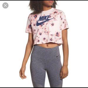 Nike floral crop top